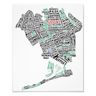 Copie de photo de carte de typographie du Queens