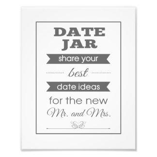 Copie de photo de signe de mariage de pot de date