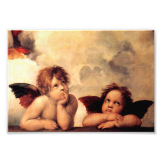 Copie de photo de Sistine Madonna d'anges de Rapha