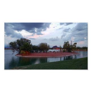 Copie de photo d'île de lac fountain