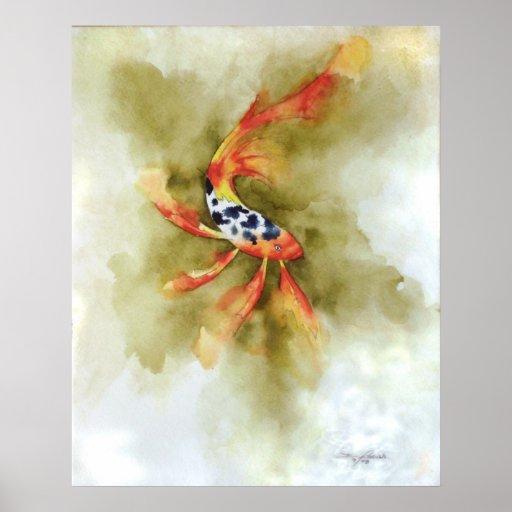 Copie de poissons de koi de papillon affiche zazzle for Koi papillon