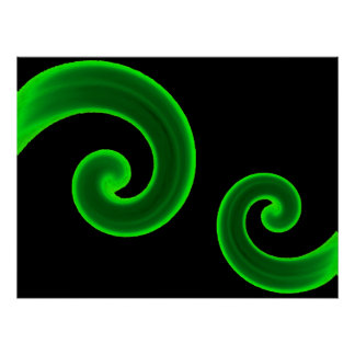 Copie de remous de vert affiche