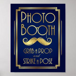 Copie de signe de CABINE de PHOTO d'art déco d'or
