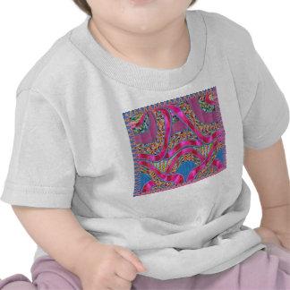 Copie DE SOIE rose de correction de deco de RUBAN T-shirt