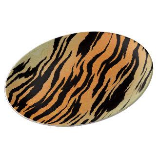 Copie de tigre assiettes en porcelaine