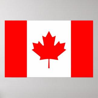 Copie de toile avec le drapeau du Canada Poster