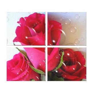 Copie de toile - bulles roses toiles