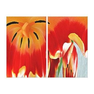 Copie de toile - coeur d'une tulipe toiles