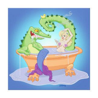 Copie de toile d'alligator et de sirène