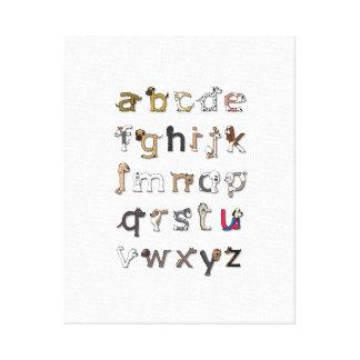Copie de toile d'alphabet de chien