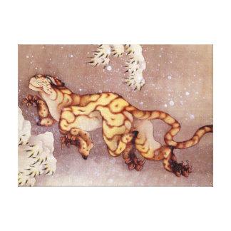 """Copie de toile dans neige de Hokusai """"tigre"""" Toiles"""
