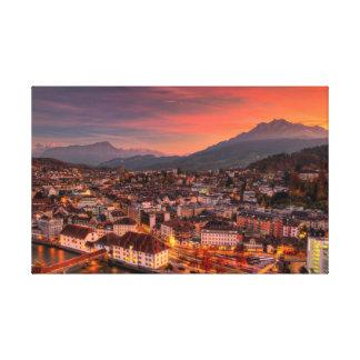 Copie de toile de beaux-arts de la Suisse HDR de