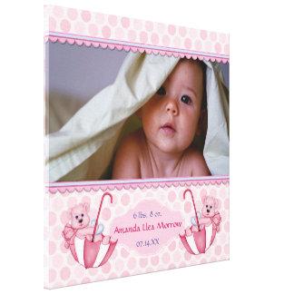 Copie de toile de bébé de polka d'ours de nounours toile tendue sur châssis