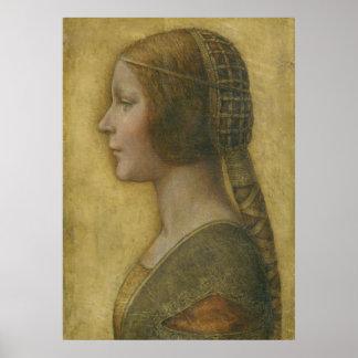 Copie de toile de Bella Principessa de La Affiches