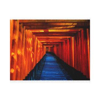 Copie de toile de chemin de porte de Torii