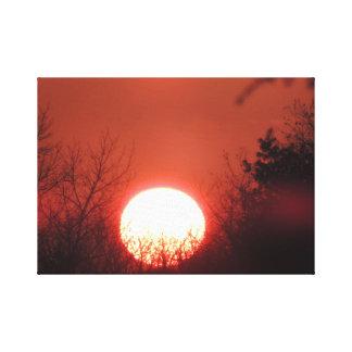 Copie de toile de coucher du soleil