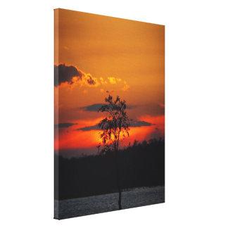 Copie de toile de coucher du soleil de paradis de