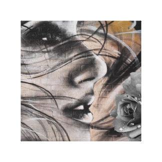 Copie de toile de femme de graffiti