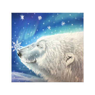 Copie de toile de flocons de neige d'ours blanc