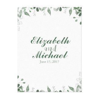 Copie de toile de Guestbook de mariage de verdure Toiles