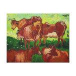 """Copie de toile de """"Les Vaches"""" de Van Gogh Toiles Tendues"""