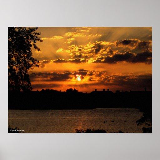 Copie de toile de lever de soleil posters