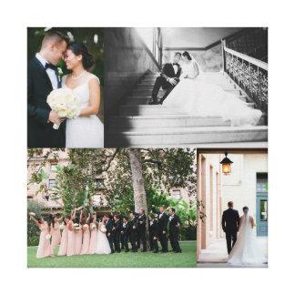Copie de toile de mariage avec VOS PHOTOS Toiles