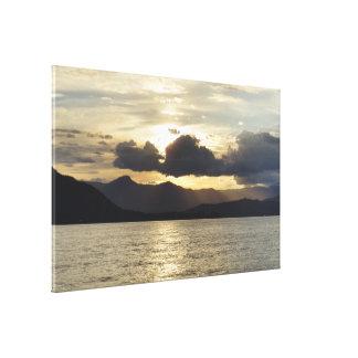 Copie de toile de paysage de coucher du soleil