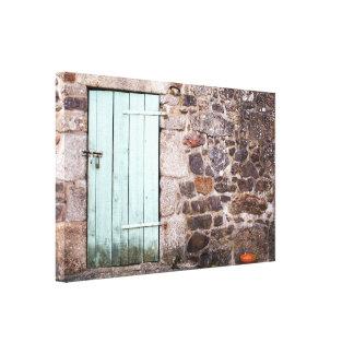 Copie de toile de porte stable et de mur en pierre