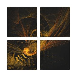 Copie de toile de quadruple d'art abstrait de poin toiles