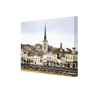 Copie de toile de scène de berge de Saumur