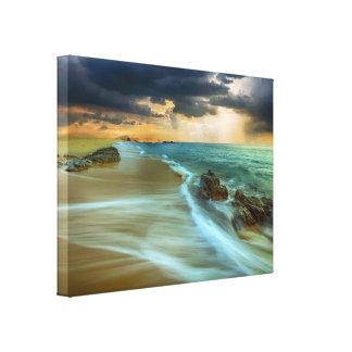 Copie de toile de scène de plage