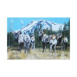 Copie de toile d'élans de Mt. Shasta