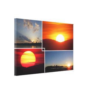 copie de toile des couchers du soleil 4-Photo Toiles