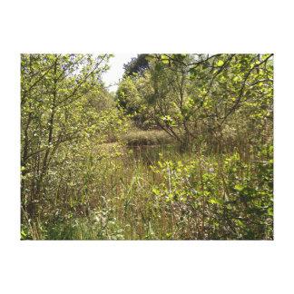 Copie de toile d'étang de forêt de Portumna,