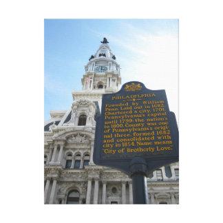 Copie de toile d'hôtel de ville de Philadelphie Toiles
