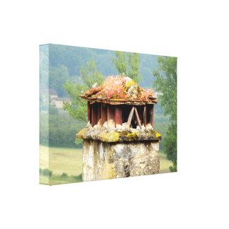 Copie de toile étirée par cheminée française