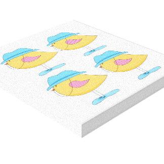 Copie de toile - oiseau jaune - douches de ressort