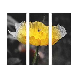 Copie de toile - pavot jaune avec l'abeille toiles
