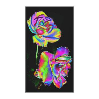 Copie de toile - roses d'arc-en-ciel toiles