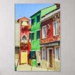 Copie de Venise Italie de scène de rue d'île de Bu Posters