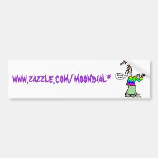 Copie d'Erin, www.zazzle.com/moondial* Autocollant De Voiture
