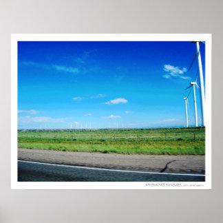 Copie des turbines de vent du Wyoming 2010 Affiche