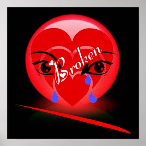 Copie du coeur brisé affiche