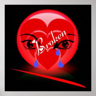 Copie du coeur brisé posters