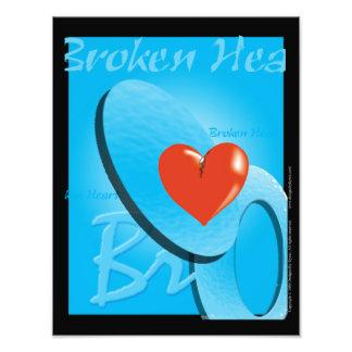 Copie du coeur brisé tirages photo