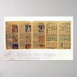 Copie d'un fragment du codex de Dresde Affiches