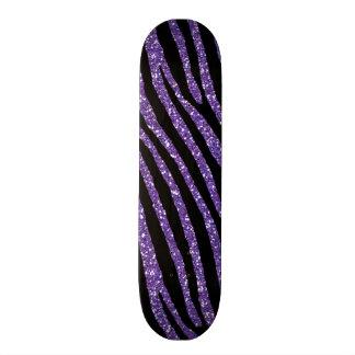 Copie élégante chic pourpre de zèbre skateboard old school  21,6 cm