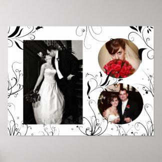 Copie élégante de cadre de photo de mariage poster