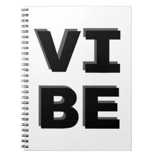Copie empilée moderne de VIBE Carnet